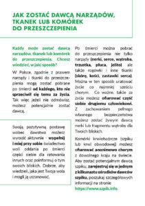 Solidarnie dla transplantacji - str 2 broszury nt leczenia przeszczepami