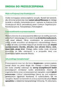 Solidarnie dla transplantacji - str 4 broszura nt leczenia przeszczepami