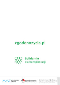 Solidarnie dla transplantacji - tylna okładka broszury nt leczenia przeszczepamiki - str 6 ulotki nt leczenia przeszczepami