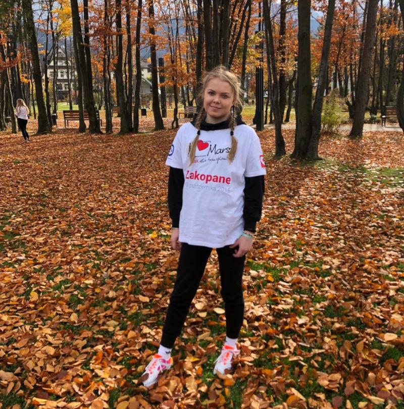 Patrycja Patuszka po przeszczepie płuc podczas Marszu Tak dla Transplantacji Zakopane 2019