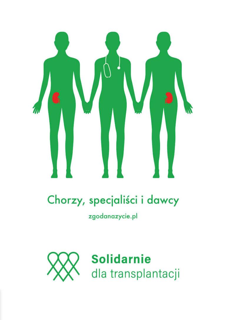 Solidarnie dla transplantacji - okładka broszury nt leczenia przeszczepami