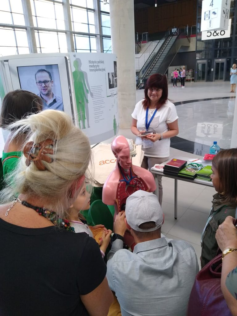 Wystawa osiągnięć polskiej medycyny transplantacyjnej podczas Arena Festival Film andMusic w Ostródzie