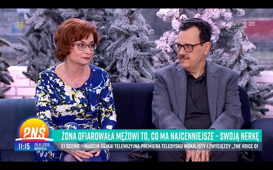 Pytanie na Śniadanie Ogólnopolski Dzień Transplantacji Tomasz Wolny Grażyna Adam Borkowscy solidarnie dla transplantacji